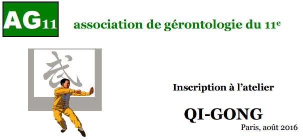Rentrée Atelier Qi-Gong