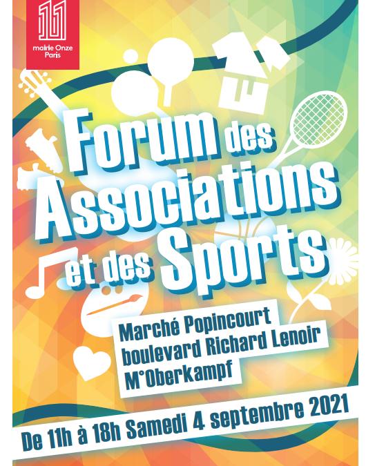 L'AG 11 au forum des associations de Paris 11e